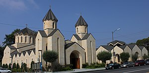 Saint Gregory the Illuminator Armenian Catholic Church in Glendale , California (2001) full.JPG