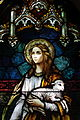Saint Joseph's Catholic Church (Central City, Kentucky) - stained glass, St. Agnes, detail.jpg