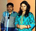 Sajan Agarwal,Sunidhi Chauhan at Kailasha Studio (3).jpg