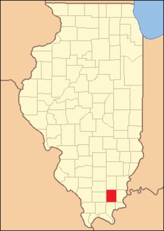Saline County, Illinois - Image: Saline County Illinois 1847