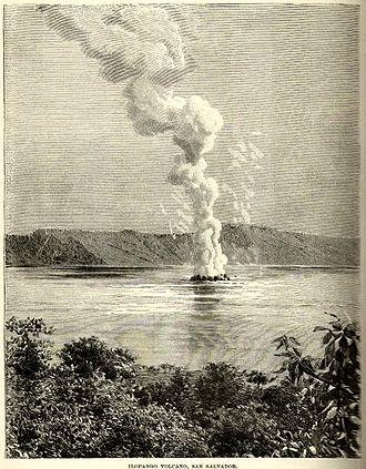 History of El Salvador - The eruption of the Ilopango volcano, 1891