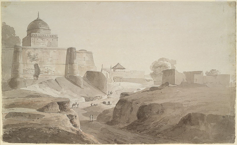 Sambhal Jama Masjid wash drawing.jpg
