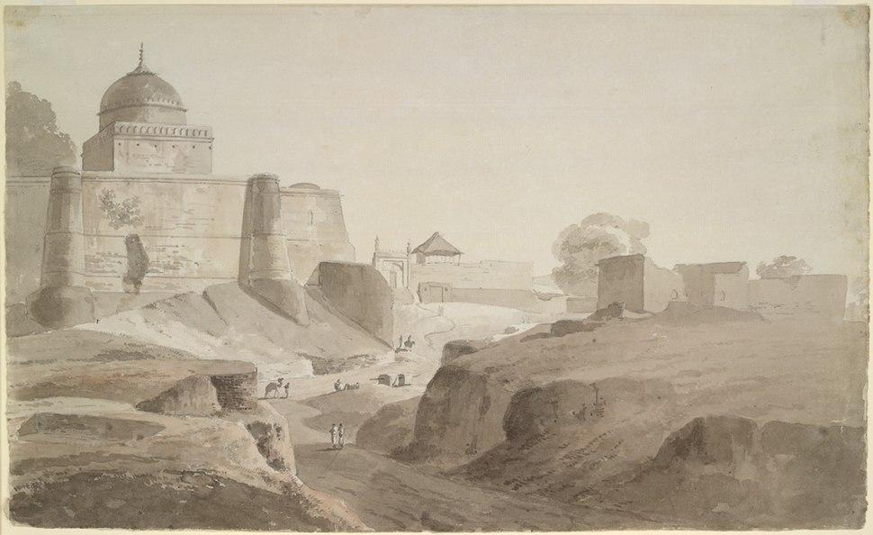 Sambhal Jama Masjid wash drawing
