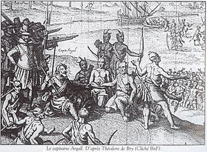Chickahominy people - English depiction of the negotiation of the 1614 treaty