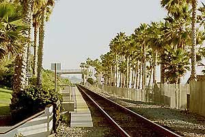 San Clemente Pier station - Looking south towards San Diego.