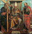 San Pedro entronizado con San Felipe y San Pablo 1528.jpg