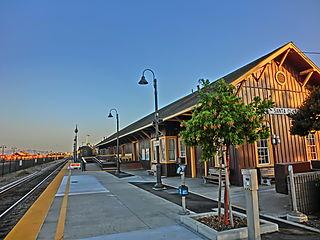 Railway station in Santa Clara, California
