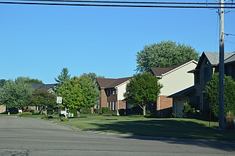 Fairfield Township, Butler County, Ohio - Saratoga Drive, a typical suburban street east of Hamilton