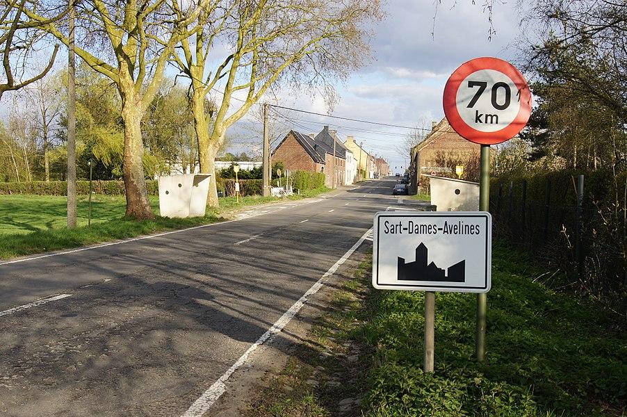 Sart-Dames-Avelines,  Belgium: The Namur Road N93