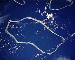 Satawan - NASA picture of Satawan Atoll