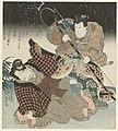 Sawamura Gennosuke II en Segawa Kikunojô V in het toneelstuk Matsuochikara Tomoe no fujinami-Rijksmuseum RP-P-1991-663.jpeg