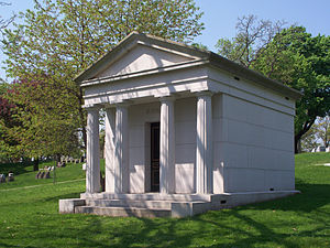 Richard Mellon Scaife - Scaife family mausoleum (1914), Allegheny Cemetery, Pittsburgh, burial place of Richard Mellon Scaife