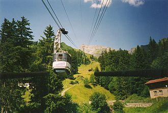 Mürren - The cable car to Schilthorn