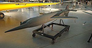 Henschel Hs 117 - A Schmetterling missile on display at the National Air & Space Museum (NASM), Steven F. Udvar-Hazy Center.