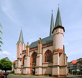 """Schotten - The Gothic Liebfrauenkirche (""""Church of Our Lady"""")."""