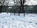 Scouts War Memorial, Churchfields Recreation Ground, Hanwell (snow scene) - geograph.org.uk - 1186071.jpg