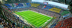 The San Siro Stadium.