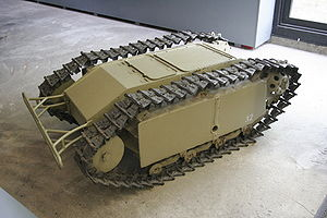 Goliath tracked mine - An SdKfz. 302, displayed at the Deutsches Panzermuseum, Munster (2005)