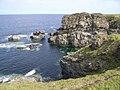 Sea cliffs towards Castle O' Burrian - geograph.org.uk - 954018.jpg