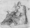 Seated Sibyl and Attendant Genius (recto); Study of the Head of a Horse in Profile (verso) MET 175851.jpg