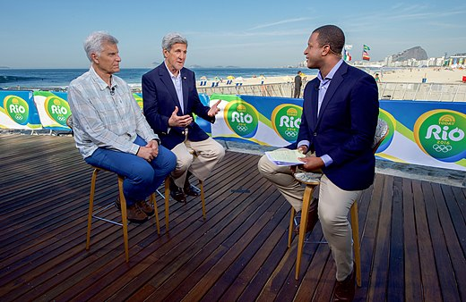 Secretary Kerry Sits With Olympic Gold Medal Swimmer Mark Spitz During An Interview With NBC's Craig Melvin (28803990015).jpg