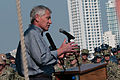 Secretary of Defense Chuck Hagel, at lectern, speaks to troops and merchant mariners aboard the afloat forward staging base USS Ponce (AFSB(I) 15) in Bahrain Dec. 6, 2013 131206-N-IZ292-170.jpg