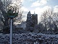 Seething village sign and church - geograph.org.uk - 1016375.jpg