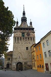 Segesvár - Felsőváros - Óra-torony - panoramio (1).jpg