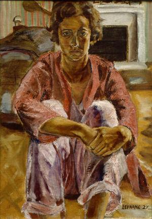 Margaret Lefranc - Self Portrait, 1927. Oil on canvas by Margaret Lefranc.