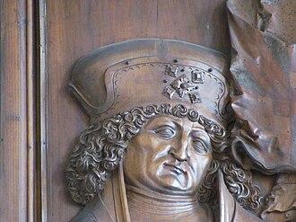 Bernhard II, Margrave of Baden-Baden - Bernard II of Baden, depicted on the altar of the church in Babenhausen
