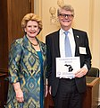 """Senator Stabenow meets with Dr. James """"Randy"""" Hillard, MD, a representative of Debbie's Dream Foundation advocating for stomach cancer research (32331239534).jpg"""