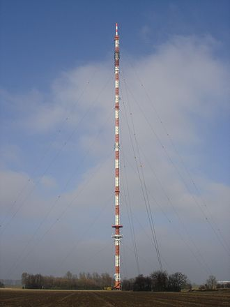 Wesel transmitter - FM and TV-mast Wesel