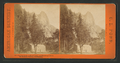 Sentinel Rock, 3,720 feet high, and Hutchings' Hotel. Yo Ssemite Valley, California, by Pond, C. L. (Charles L.).png