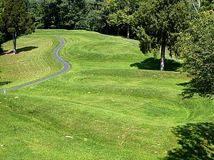History of Ohio - The Great Serpent Mound in Adams County is one of the earthworks from ancient civilizations found in the state.