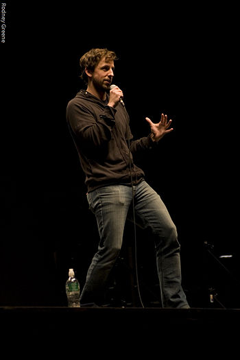English: Seth Meyers performs at Clarkson Univ...