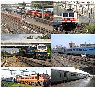 Shatabdi Express - Clockwise from top left: Howrah Puri Shatabdi Express, Habibganj New Delhi Shatabdi, Howrah New Jalpaiguri Shatabdi, Chennai Mysore Shatabdi, Chennai Coimbatore Shatabdi, Pune Secunderabad Shatabdi