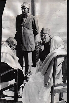 Sheikh Abdullah with Sardar Patel after taking charge of interim government in Kashmir