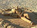 Shrek look-a-like sand sculpture in Sitges 2005-01-14.jpg