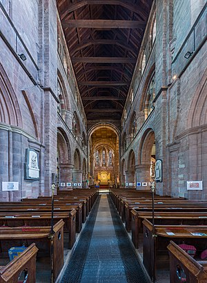 Shrewsbury Abbey - The Abbey interior.