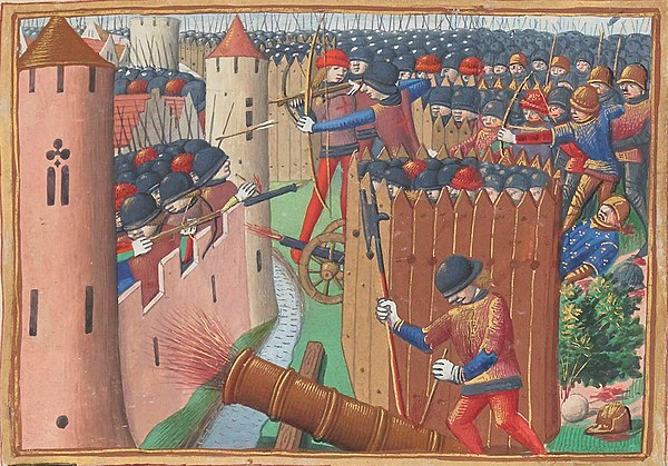 livre - les Vigiles de Charles VII, par Martial d'Auvergne - 1487  600px-Siege_orleans