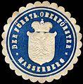 Siegelmarke Der Fürstliche Oberförster - Masserberg W0255310.jpg