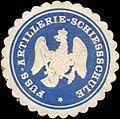 Siegelmarke Fuss - Artillerie - Schiessschule W0216356.jpg