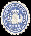 Siegelmarke Königlich Bayrische Verwaltung der Gefangenanstalt St. Georgen - Bayreuth W0235892.jpg
