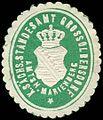 Siegelmarke Königlich Sächsisches Standesamt Grossolbersdorf - Amtshauptmannschaft Marienberg W0251978.jpg