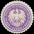 Siegelmarke K.Pr. Kreisschulinspection Belzig W0350373.jpg