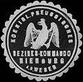 Siegelmarke Koeniglich Preussisches Bezirks-Kommando Nienburg an der Weser W0255903.jpg