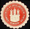 Siegelmarke Kommission für die erste juristische Prüfung - Hamburg W0232761.jpg