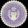 Siegelmarke Luisenstädtisches - Gymnasium in Berlin W0227642.jpg