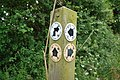 Sign Post at Track Junction West of Holwell - geograph.org.uk - 1357358.jpg