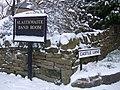 Sign for Slaithwaite Band Room - geograph.org.uk - 1544684.jpg